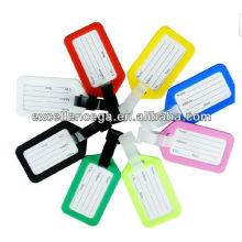 Étiquette de bagage de PVC clair de haute qualité
