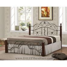 Hölzernes Queen-Bett, Schlafzimmermöbel, Klassisches Duoble-Bett
