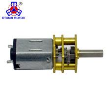 12 mm 298: 1 12 v de alta velocidade engrenado motor dc