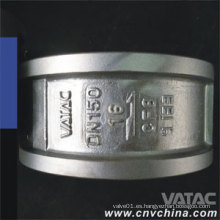 Vatac API / DIN Válvula de retención de chapa de doble placa de acero