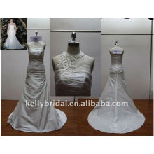 Strapless,Nice Lace Beading,Halter neck wedding dress