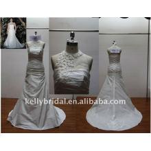 Без бретелек,красивые кружева бисером Холтер шеи свадебное платье
