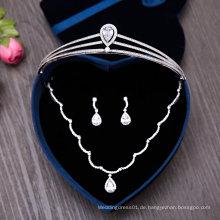 Hochzeit Zubehör Crown Tiaras Halskette Ohrring