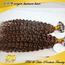 Extensão de cabelo de anel europeu micro cabelo qualidade superior