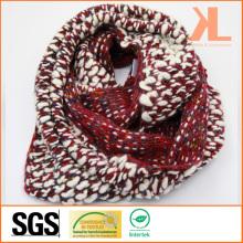 Echarpe en mousseline de soie rouge et blanc à la mode en acrylique