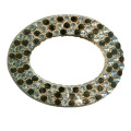Ellipse Metal Decorative Buckle with Rhinestone; Shoe Jewelry, Metal Footwear Trimming