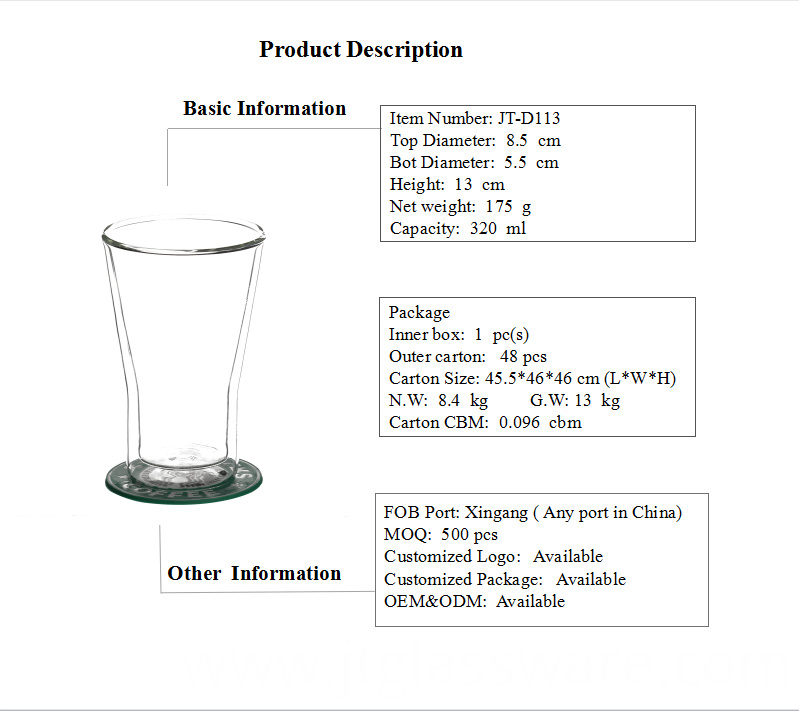 Borosilicate Glasses And Cups