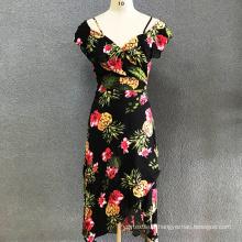 Robe longue imprimée en coton pour femmes