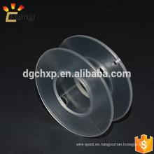 bobina de plástico pequeña y clara para calentar alambre o cuerda