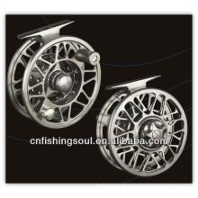 FLR004 Angelausrüstung Real und Aluminium Fliegen Angelrolle Fliegenrolle