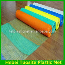 Plastic colored window screen netting