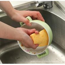 Esponja de lavagem de tigela