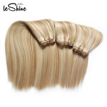 Raw Brazilian Virgin Human Hair Extension Blonde Deep Wave Hair Weft