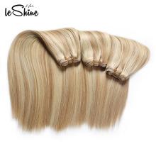 Необработанные Бразильского Виргинские Человеческих Волос Расширений Блондинка Глубокая Волна Волосы Утка