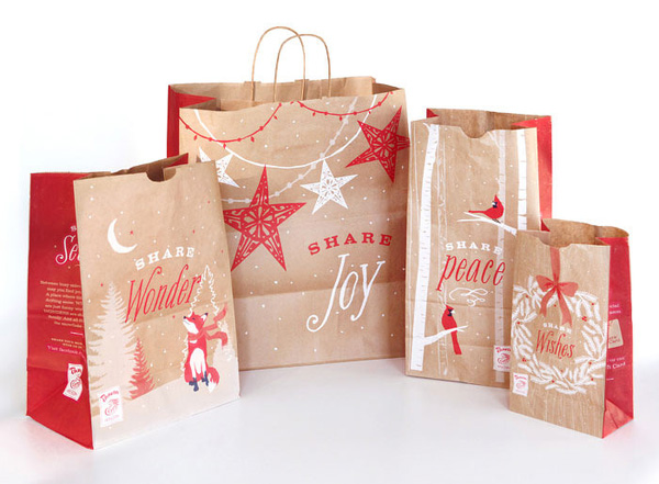 Kraft Christmas Paper Bag