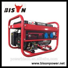 Bison China Zhejiang 3KW 6.5HP gerador de motor portátil a gasolina