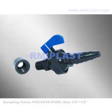 Valve d'échantillonnage en PVC 1/4 pouce