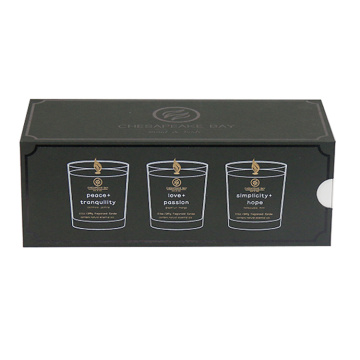 Custom Lade Black Candle Set Boxes for Candle