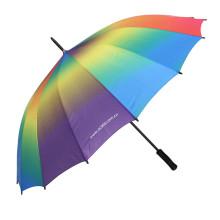Paraguas rectángulo abierto manual del gradiente (BD-55)