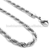 Muito Popular Bela Qualidade Metal Colar Cadeia De Aço Corda De Aço