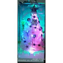 Árbol de Navidad de fibra óptica de color rosa LED wtih star