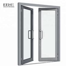 White aluminum frame swing entry bedroom door/house door