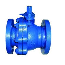 API Copxy Coating Cast Iron Wras Ball Valve