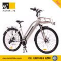 MOTORLIFE / OEM EN15194 HEIßER VERKAUF 36 v 250 watt 700C elektrisches fahrrad, 36 v 10,4ah elektrische bike li ionen akku