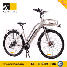 MOTORLIFE/OEM EN15194 HOT SALE 36v 250w 700C electric bicycle,36v 10.4ah electric bike li ion battery