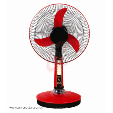 12′′16′′12V Electric DC Rechargeable Solar Table Fan