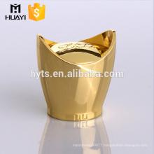 golden zamac metal cap for perfume glass bottle