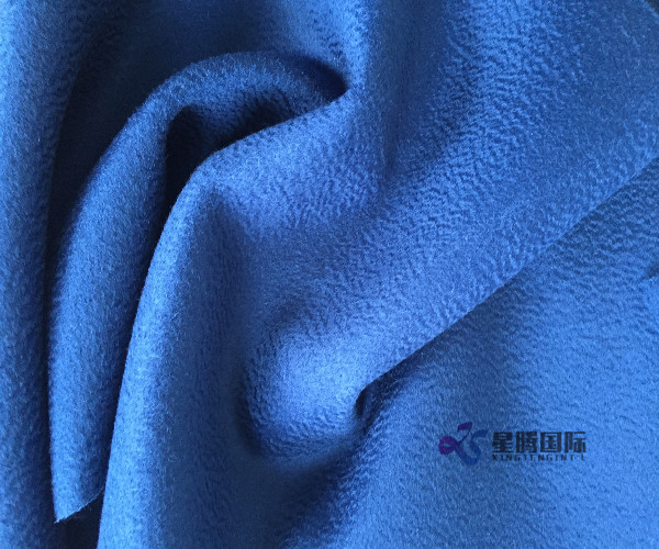 Elegant Water Wave Wool Coating Fabric