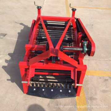 High-efficiency potato harvester for wheel tractor