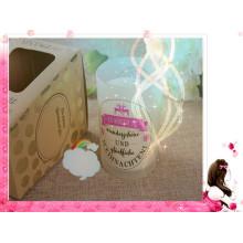 Bougie parfumée de soja de jardin humide dans le luxe en verre avec la boîte-cadeau
