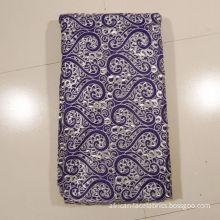 Purple Embroidery Handcut Lace , 130 -135cm Width