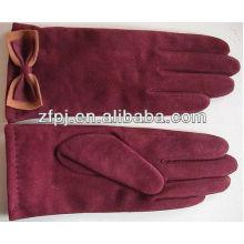 Nuevo cuero de ante de los guantes de la señora Violet de la llegada en Europa