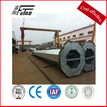Galvanized steel transmission line towers