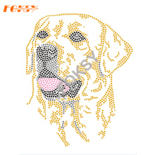 Cartoon Dog Motif Iron På Rhinestone Heat Transfer