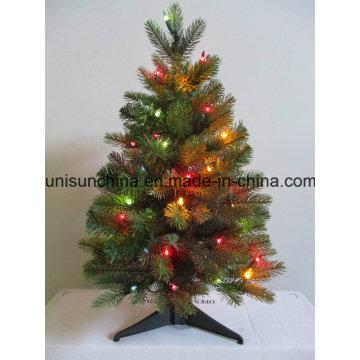 Petit arbre de Noël en pot avec cerise et lumière (usine directe)