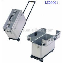Maletín portátil de aluminio con ruedas de alta calidad de China fabricante
