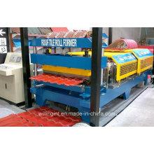 Профилегибочная машина для производства стеновых панелей с гофрированным остеклением