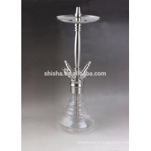 shisha de narguilé 4 tuyaux en acier inoxydable