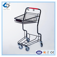 Chariots de chariot de panier de poussée de main de supermarché