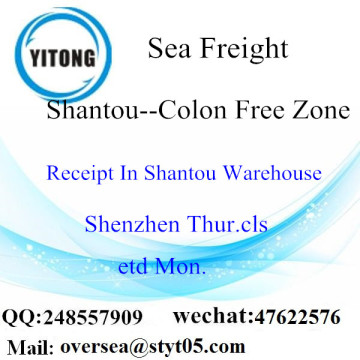 Consolidation de LCL de Shantou Port à la zone libre de Colon
