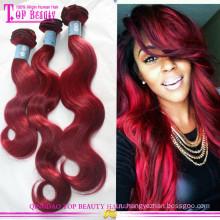 Индийский Реми человеческий волос цвет 99j мелирование волос красный плетение волос