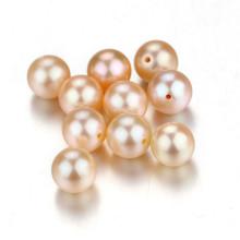 Snh 7-7.5мм круглый персик AAA пресноводный жемчуг свободные шарики