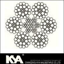 (6X36W) Веревка из нержавеющей стали для подъема, подъема, рисования