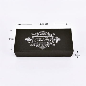 Black paper box with logo for watch packing
