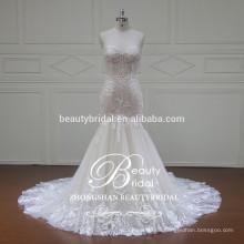 fashion strapless wedding dress mermaid 2017 elegant bridal gown