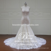мода свадебное платье без бретелек русалка 2017 элегантный свадебное платье